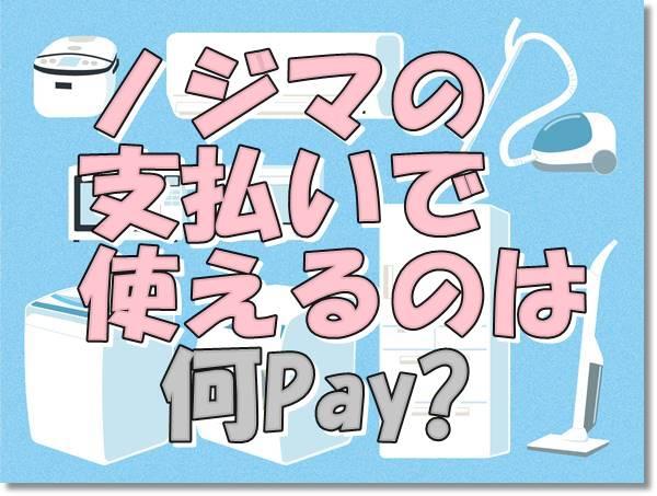 ノジマ支払い何ペイ?