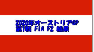 2020 FIA F2オーストリア結果