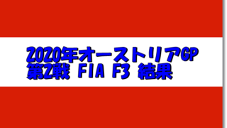 FIA F3オーストリアGP 第二戦結果